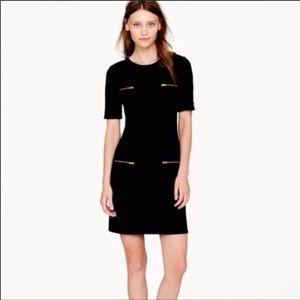 J. Crew Wool Blend Black Short Sleeve Dres…
